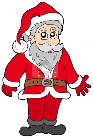 Happy Santa Claus stock vector clipart, Happy Santa Claus - vector illustration. by Klara Viskova
