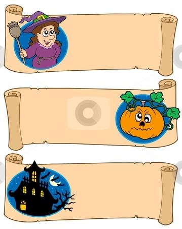 Halloween banners collection 5 stock vector clipart, Halloween banners collection 5 - vector illustration. by Klara Viskova