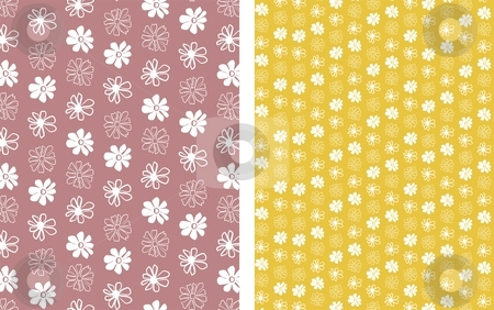 Flower Background 1 stock vector clipart, Floral seamless pattern background element for design vector illustration by Čerešňák