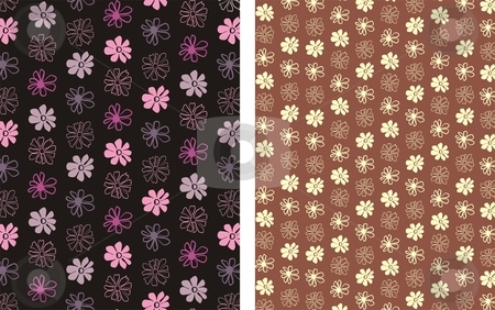Flower Background  3 stock vector clipart, Floral seamless pattern background element for design vector illustration by Čerešňák