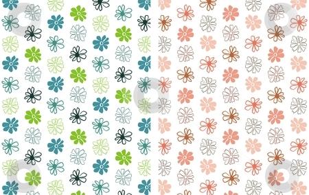 Flower Background  4 stock vector clipart, Floral seamless pattern background element for design vector illustration by Čerešňák