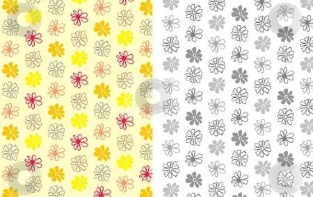 Flower Background 5 stock vector clipart, Floral seamless pattern background element for design vector illustration by Čerešňák