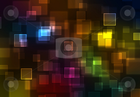 Abstract rainbow squares background stock photo, Abstract rainbow squares background by Milos Pavlovsky