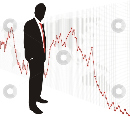 World Stock Exchange Market  5 stock vector clipart, Business people business men trading stocks markets commodities currencies by Čerešňák