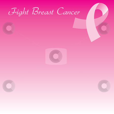 Pink Cancer Ribbon Seamless Background stock vector clipart, Vector Illustration for Breast Cancer awareness month. Background can be used for web or print. Cards, template, background, brochure, poster, flyer, flier, etc. Used Gabrielle font. by Basheera Hassanali