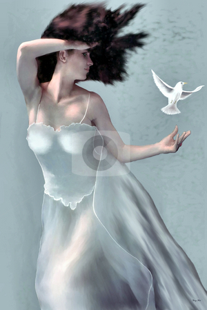 TEMPEST stock photo, The goddess of storms and winds. by Corey Ford