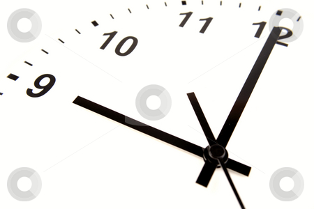 Clock face    stock photo, Clock face on white background by Les Cunliffe