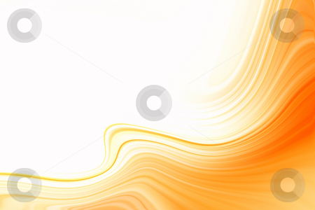 Orange graphic  stock photo, Orange graphic on white background. Copy space by Les Cunliffe