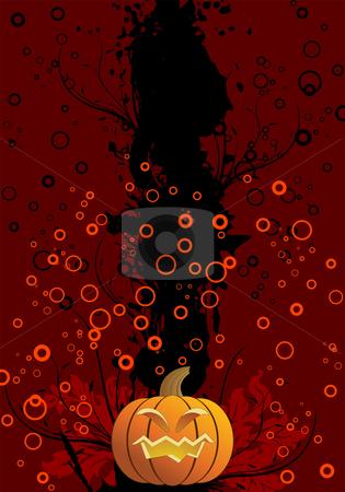 Halloween background stock vector clipart, Abstract halloween background with pumpkin vector illustration by Vadym Nechyporenko