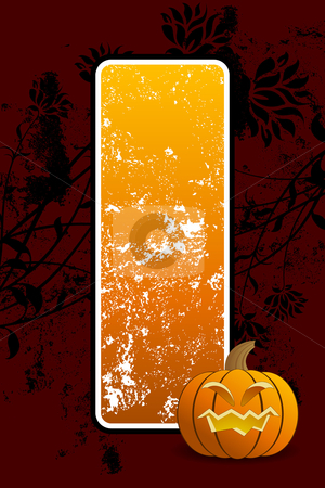 Halloween background stock vector clipart, Abstract halloween background with pumpkin vector illustration by Vadym Nechyporenko