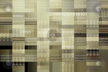 Coding stock photo, Binary codes on patterned background by Les Cunliffe
