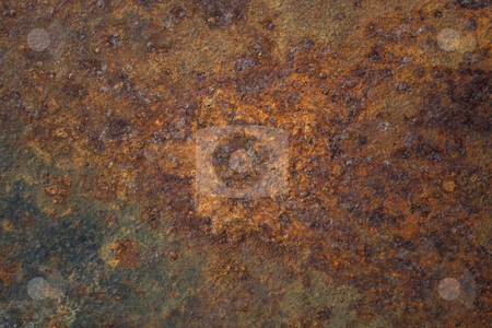 Rusty metal texture stock photo, Old rusty metal plate with remains of black paint by Marek Uliasz