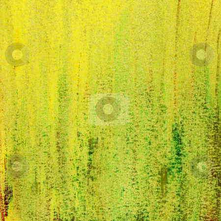 Grunge green yellow and brown papeer e3333 stock photo, Green abstract - hand painted watercolor background with scratch texture, self made4333 by Marek Uliasz