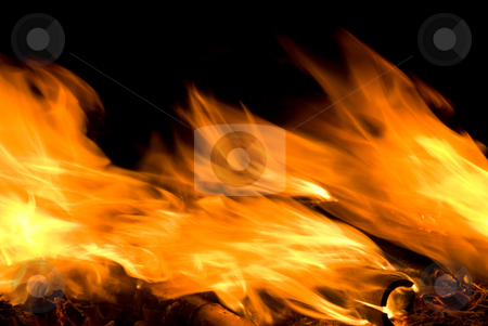 Fire flame swing with the wind stock photo, Fire flame swing with the wind, vivid texture. by Lawren