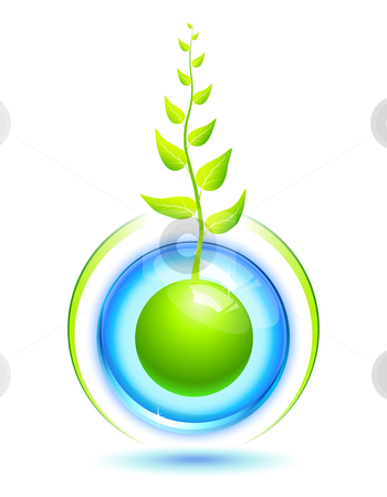 Living Sphere stock vector clipart, Environmental concept for preservation of the nature by Laurent Renault