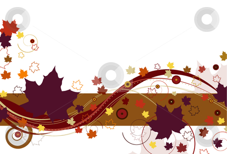 Autumn Leaves in Purple stock vector clipart, Autumn leaves with large purple leaves and abstract design on a white background. by x7vector