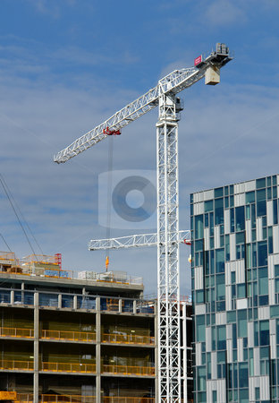 Building Works stock photo, A south-east London building site. by Chris Davidson