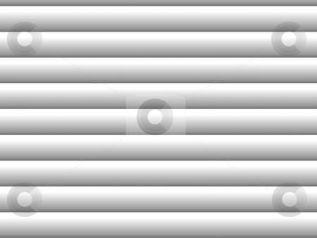 Blinds stock photo, Gray horizontal blinds as backdrop or background with sunlight by Henrik Lehnerer