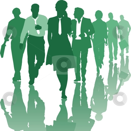 Teamwork people Business team  stock vector clipart, Group of young business people Teamwork Business team by Čerešňák