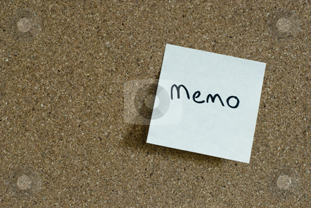 Sticky memo note stock photo, Yellow