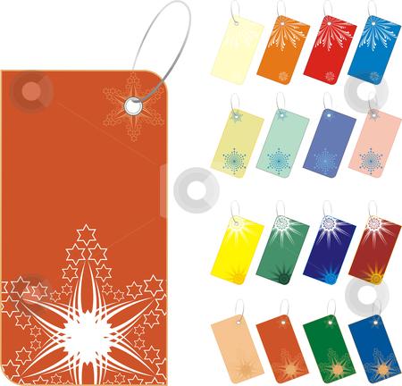 Winter Sale tag stock vector clipart, Vector color christmas sale tag. snowflakes New Year by Čerešňák
