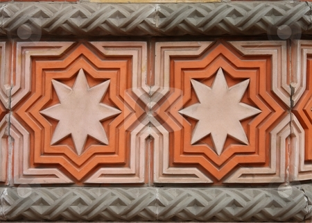 Wall decoration on Synagogue in Budapest stock photo, Wall decoration on Synagogue in Budapest by Arnold Barna