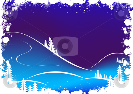 Grunge winter background with fir-tree snowflakes and Santa Clau stock vector clipart, Grunge winter background with fir-tree snowflakes and Santa Claus by Vadym Nechyporenko