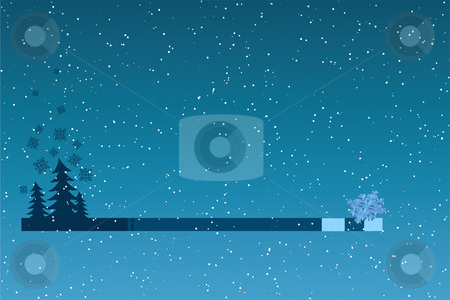 Abstract winter background stock vector clipart, Abstract winter background with christmas tree and snowflakes by Vadym Nechyporenko