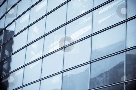 Fragment of a modern building stock photo, Fragment of a modern glass building in selenium tone by Natalia Macheda