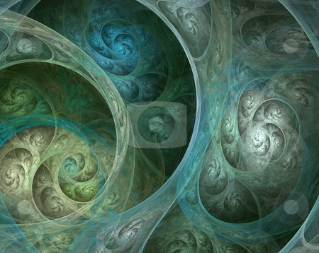 Complicated fractal spiral stock photo, Abstract illustration of a complicated fractal spiral by Natalia Macheda