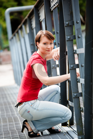 City girl stock photo, Modern young woman in city ambience by Natalia Macheda