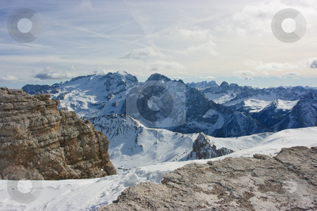 Dolomites Marmolada stock photo, Dolomites landscape. View on mountain range from the point 3000m above the sea level by Natalia Macheda