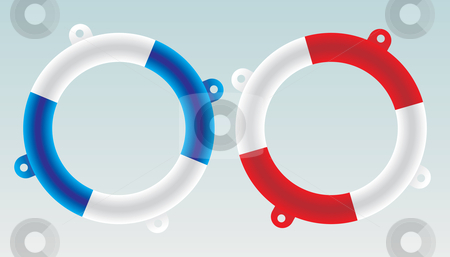 Lifesaver boat - vector stock vector clipart, Marine swim lifesaver boat - vector by ojal_2