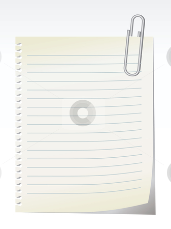 Blank note - vector stock vector clipart, Lined blank note breaked away from the notebook - vector by ojal_2