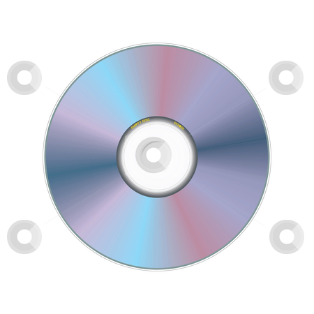 Compact disc stock vector clipart, Realistic compact disc - vector illustration by ojal_2