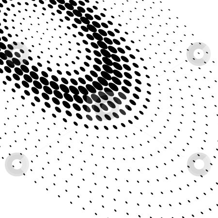 Halftone dots stock vector clipart, Halftone dots (vector illustration) by ojal_2