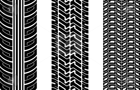 Tire tracks stock vector clipart, Vector tire tracks (repeating top to down) by ojal_2