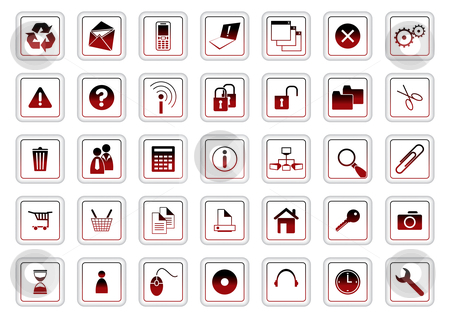 Web icon set stock vector clipart, Web icon set - vector illustration by ojal_2