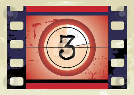Film Countdown stock vector clipart, Film Countdown - vector illustration by ojal_2