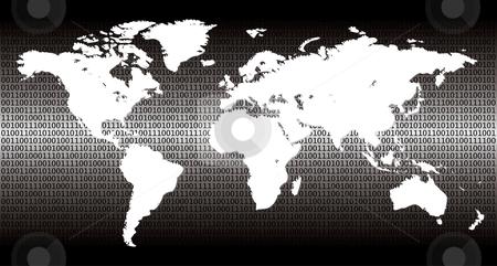 Binary world stock vector clipart, Detailed binary world - vector illustration by ojal_2