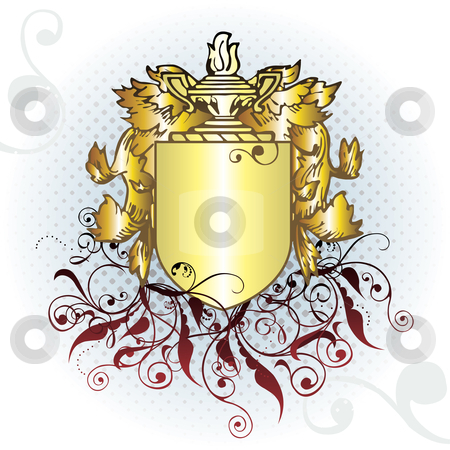 Crest element  stock vector clipart, Vector crest element with raster by ojal_2