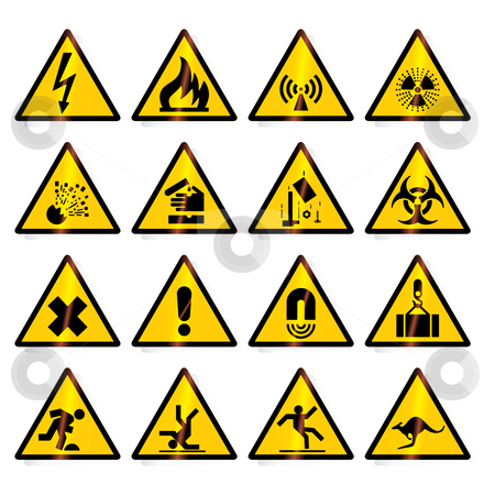Road signs (vector) stock vector clipart, Traffic, road signs - vector format by ojal_2