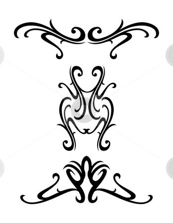 Tribal ornamental design stock vector clipart, Vector tribal ornamental design elements - tatto by ojal_2