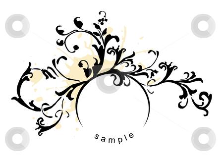 Design element stock vector clipart, Grunge floral design element - vector by ojal_2