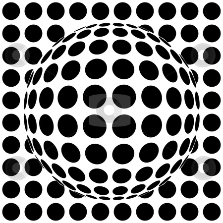 Op-art red sphere stock vector clipart, Op-art red sphere - 3d vector illustration by ojal_2