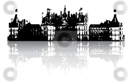 Old castle stock vector clipart, Old castle with reflection (vector) by ojal_2