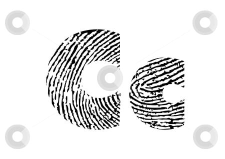 Finger print alphabet stock vector clipart, Finger print alphabet - vector illustration by ojal_2