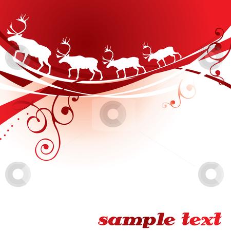 Christmas reindeer stock vector clipart, Christmas reindeer background - vector illustration by ojal_2