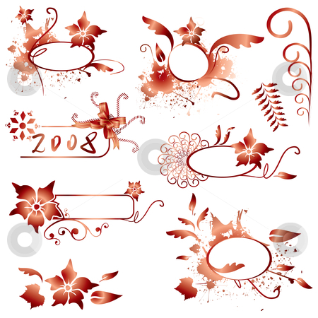 Vector design elements stock vector clipart, Christmas design elements - vector illustration by ojal_2