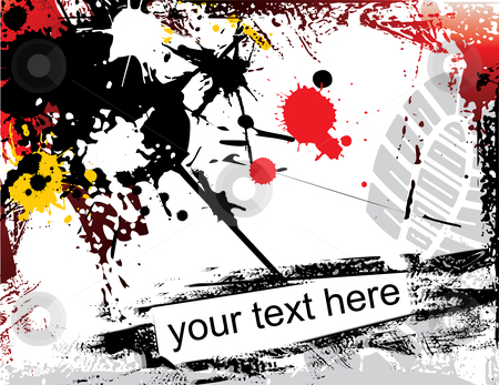 Grunge background stock vector clipart, Grunge background with text addition by ojal_2
